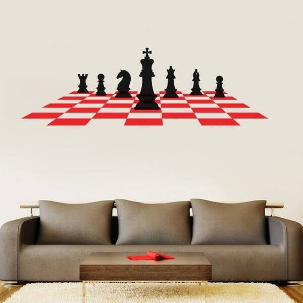 Adhesivo de pared ajedrez