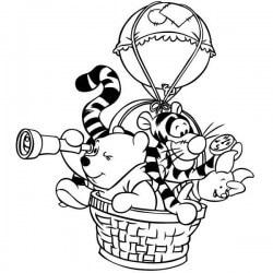 Autocollant winnie the pooh