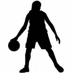 Vinilo jugadora de baloncesto