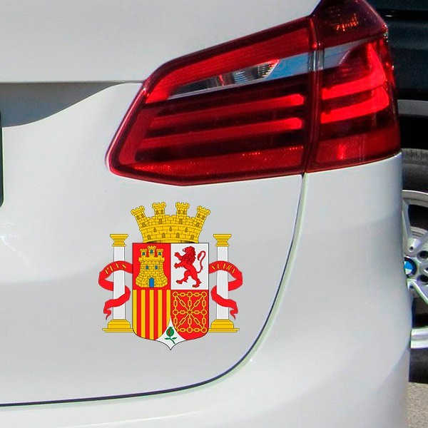 Adhesivo escudo de España