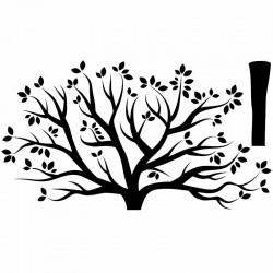 Adhesivo árbol de otoño