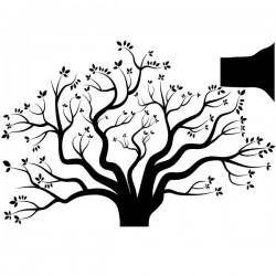 Vinilo árbol en el otoño