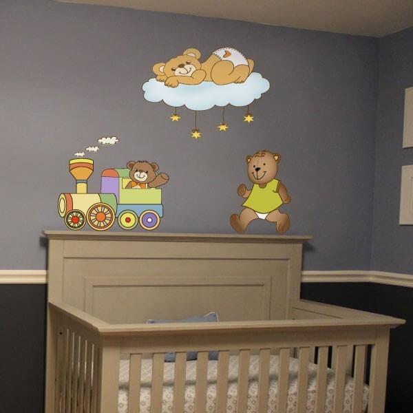 Sticker bébé trois Ours