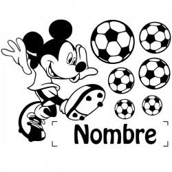 Vinilo Mickey Mouse con nombre