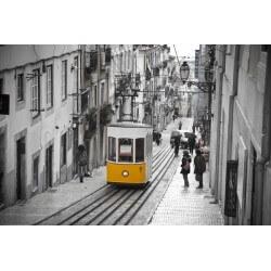 Mural con tranvía de Lisboa