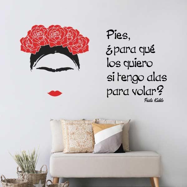 Vinilo con frase de Frida Kahlo