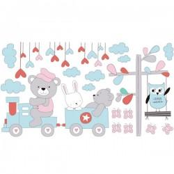 Sticker train de l'enfant