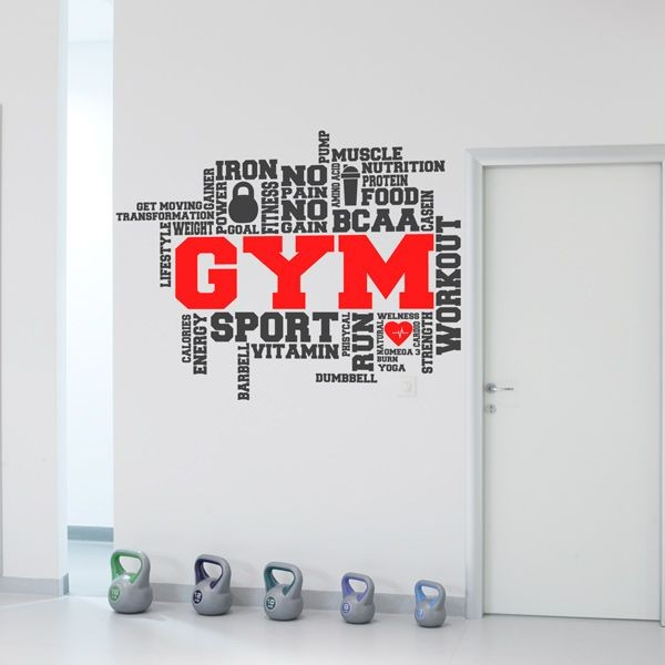 Vinilo frases para Gym