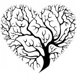 Vinilo árbol corazón