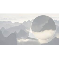 Photo murale montagnes en noir et blanc