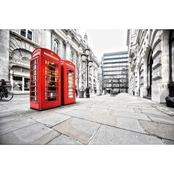 Wall Mural Telephone Booth