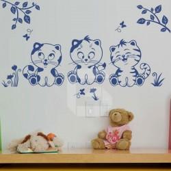 Sticker of Three Kitties