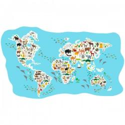 Vinilo mapamundi infantil