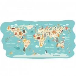 Vinilo mapamundi bebé