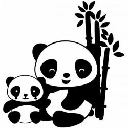 Autocollant enfants ours pandas