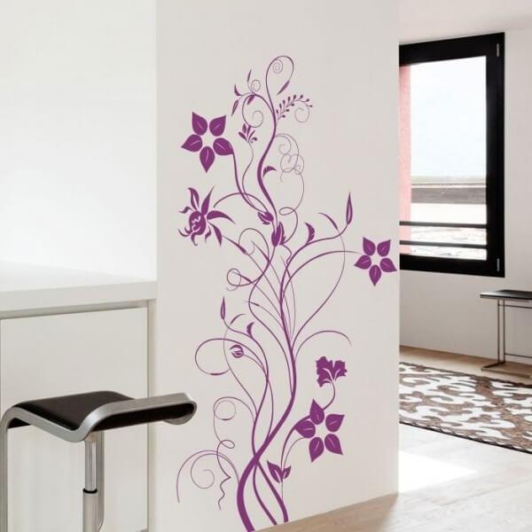 Adhesivo decorativo floral 9