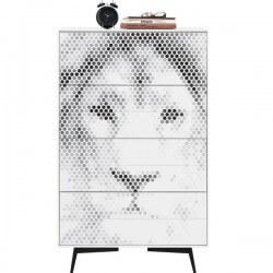 Sticker pour armoires lion abstrait