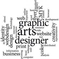 Stickers nuage de mots webdesign