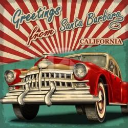 Autocollant meubles voiture Californie