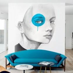 Fotomural niña de ojo azul