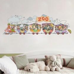Wall Decal Zoo Train