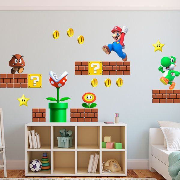Vinilo infantil super Mario
