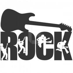 Vinilo decorativo guitarra rock