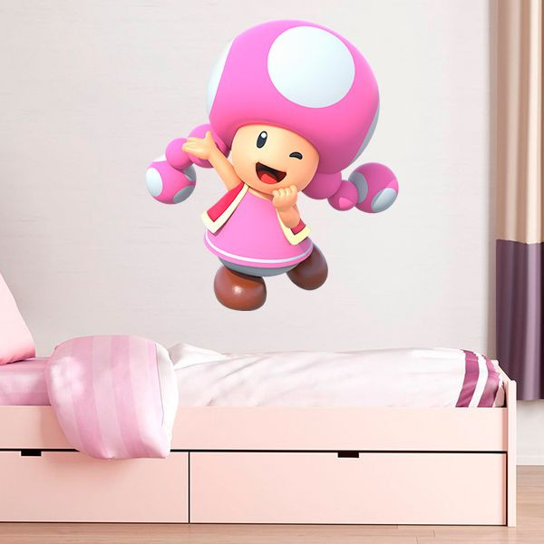 Vinilo Toadette, super Mario