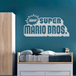 Vinilo logo super Mario Bros