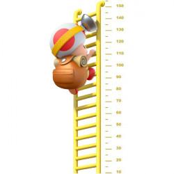 Vinilo medidor Toad, super Mario