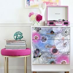 Sticker pour meuble mélange de fleurs