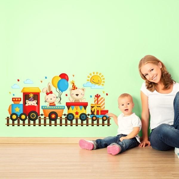 Sticker train enfants