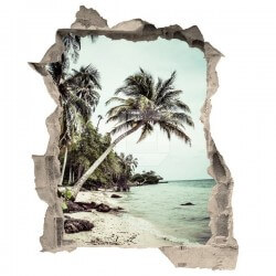 Vinilo trampantojo playa 1