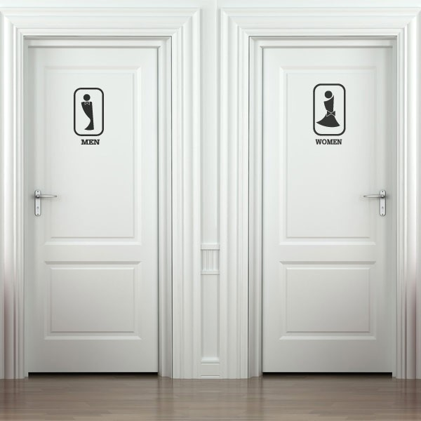 Pegatina siluetas de baños 3