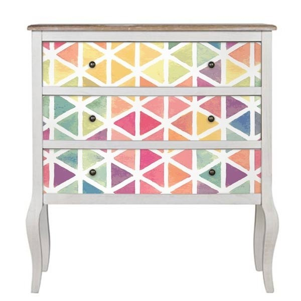 Sticker pour meuble texture aquarelle