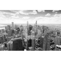 Mural pared ciudad Chicago
