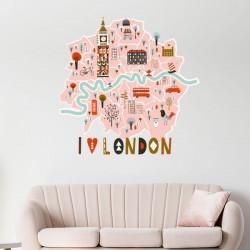Vinilo mapa de Londres