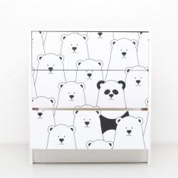 Sticker pour commode ikea pandas
