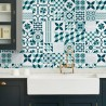 Vinilo azulejo portugués verde