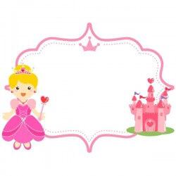Pizarra infantil princesa