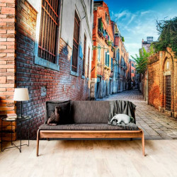 Mural calle efecto profundidad