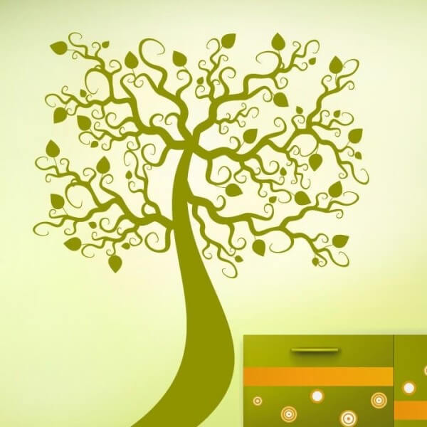 vinilo árbol de flor infantil