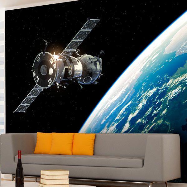 Space satellite Wall mural