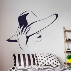 Vinilo mujer con sombrero