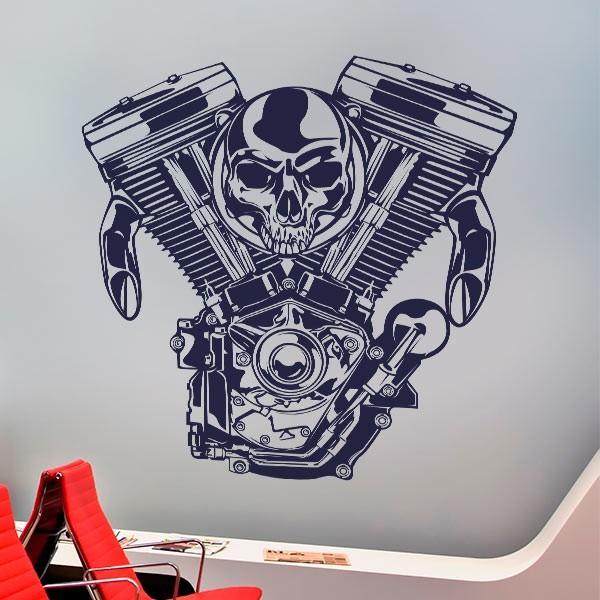 Sticker mural moteur shopper