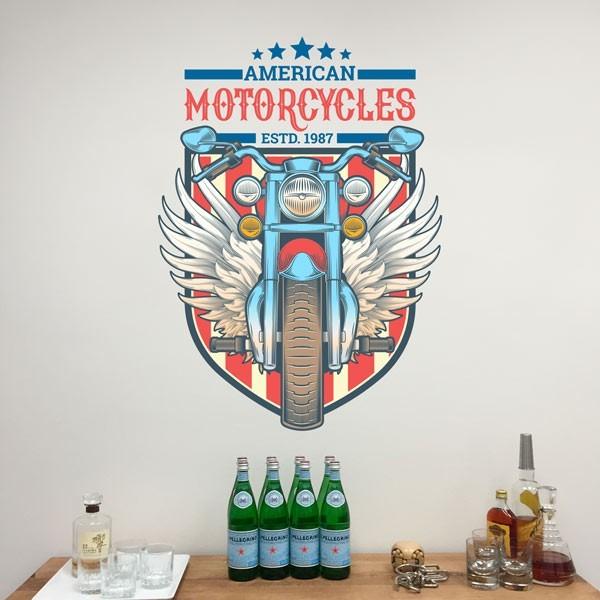 Autocollant de moto d'Amérique