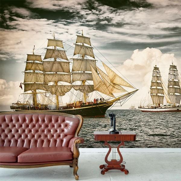 Photo murale de vieux bateau