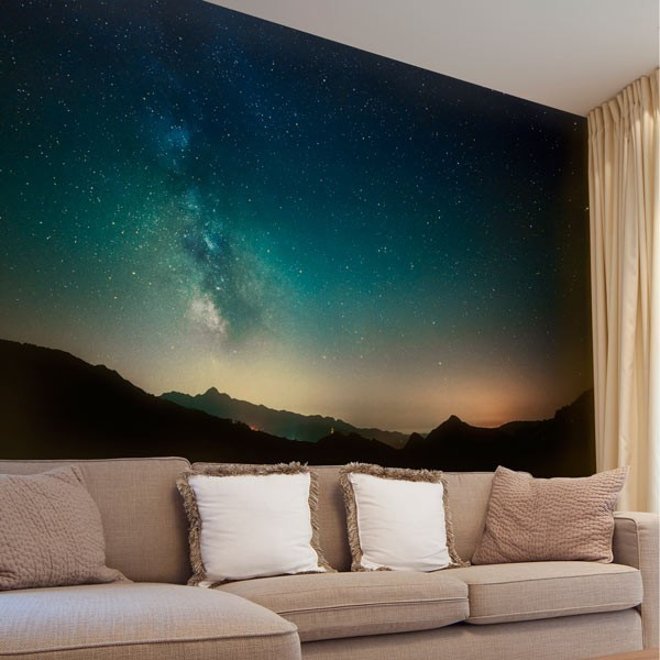 Wall mural starry sky
