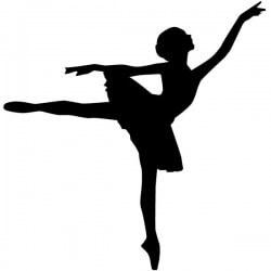 Adhesivo bailarina de ballet