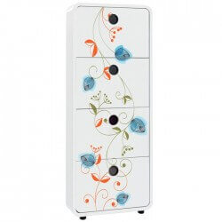 Sticker for Furniture with Flowers